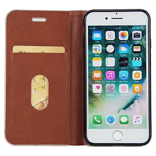 Hülle für iPhone 7 ,Schutzhülle Für IPhone 7 Schöner eleganter magnetischer Verschluss PU-lederner schützender Abdeckungs-Fall ,cover für apple iPhone 7,case for iphone 7 ( Color : Brown )