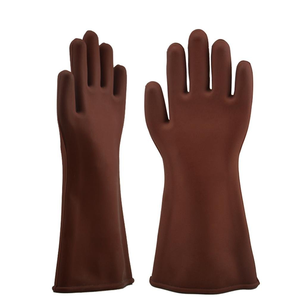 Insulated gloves 12kv high pressure electrician repair repair labor insurance supplies live work anti-high voltage waterproof rubber gloves by LIXIANG