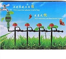 MEICHEN Temporizador de riego de jardín Válvula de Bola LCD Digital automático Temporizador de Agua electrónico Sistema de riego de Temporizador de riego para jardín doméstico: Amazon.es: Jardín