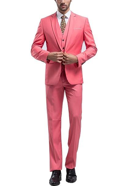 Tsui-Fashion - Traje - Ajustada - para hombre Rosa rosa 36 ...