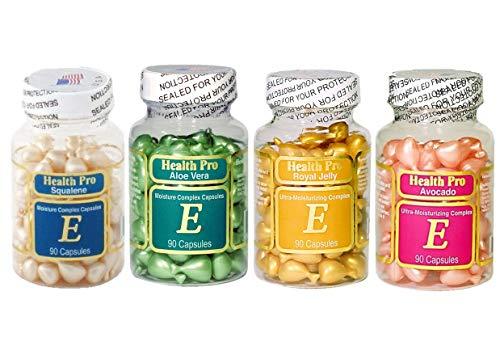 Set of 4 Vitamin E Skin Oil-avocado/aloe Vera/royal Jelly/squalene