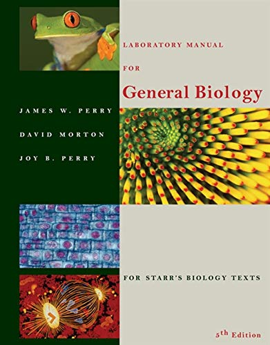 Laboratory Manual for General Biology by Brooks / Cole