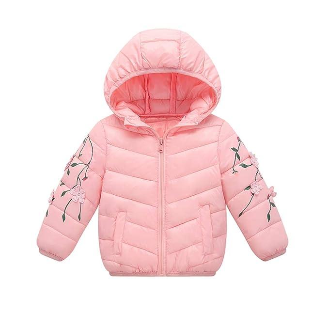 a3780c9d0 Feidoog Winter Girls Coat Toddler Jacket Outwear Packable Puffy Padded  Outerwear Zip up Lightweight Winter Hooded