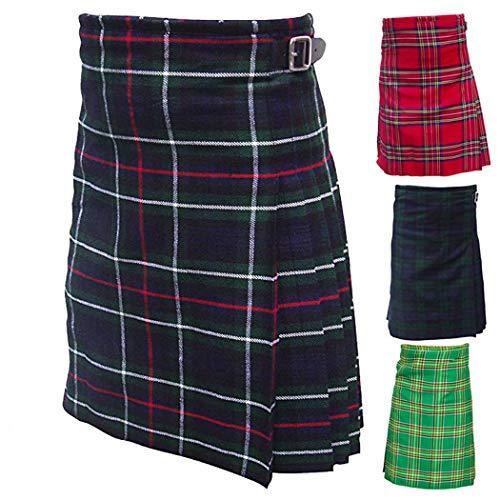 "AAR Mens 5 Yard Scottish Kilts Tartan Kilt 13oz Highland Casual Kilt 3 Tartans Sizes 32"""