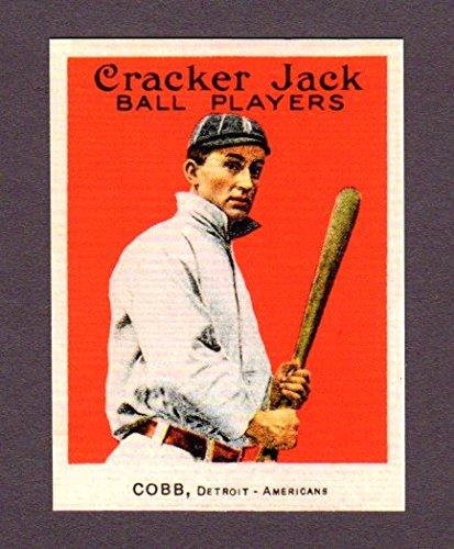Ty Cobb 1915 Cracker Jack Baseball Reprint Card (Tigers)