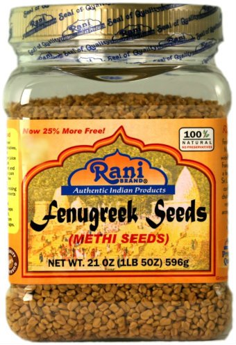 Rani Fenugreek (Methi) Seeds Whole 21oz (1.30lbs 596g - 1lb & 5oz) Trigonella foenum graecum | Gluten Free | Non-GMO (used in cooking & Ayurvedic spice)