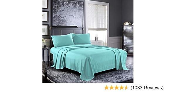 600 Tc 100/% Egyptian Cotton Sheet Set Navy Blue Stripe Queen Size Offer-931