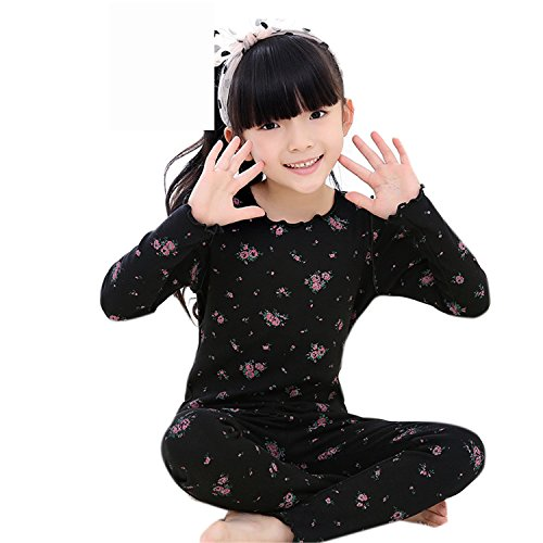 ODFAPP Adorable Children girls kids Clothing Sets autumn winter cotton floral suits baby sleepwear long sleeve cartoon pajamas Cool