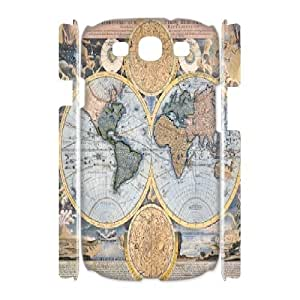 3D Samsung Galaxy S3 Cases Old Maps, Vintage Map Cases Tyquin, {White}