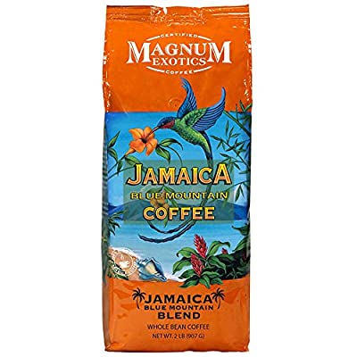 Magnum Whole Bean Coffee, Jamaican Blue Mountain Blend, 2 Pound (Pack of 2)