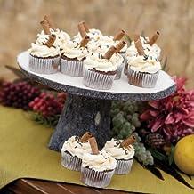RaeBella New York Wood Log Wedding Cake Stand New Rustic Charm Collection Dessert Display