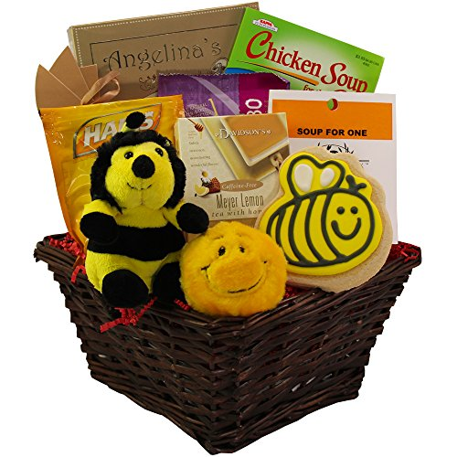 Bee Better Soon Get Well Soon Gift Basket (Cheer Gift Basket Ideas)