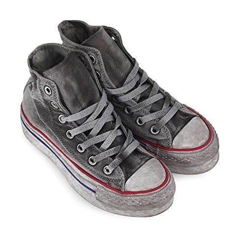 Converse Chaussures Femme Baskets All Star Alta Plate-Forme Gris Ed Ltd Printemps-Été 2018