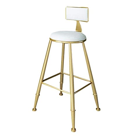 Groovy Amazon Com Famay Metal Barstools With Backs Modern Dining Squirreltailoven Fun Painted Chair Ideas Images Squirreltailovenorg
