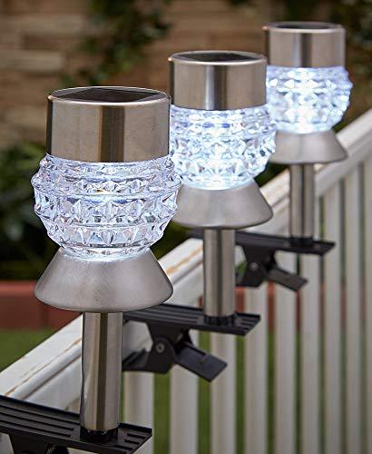 Solar Clip - Sets of 3 Solar Clip Lights (Diamond)