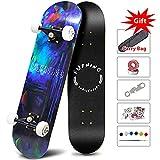 Easy_Way Skateboard -Standard Skateboard for Beginner Starter Kids Boys Girls Youths - 31''x 10''Canadian Maple Pro Cruiser Standard Skate Boards Birthday Gift Present
