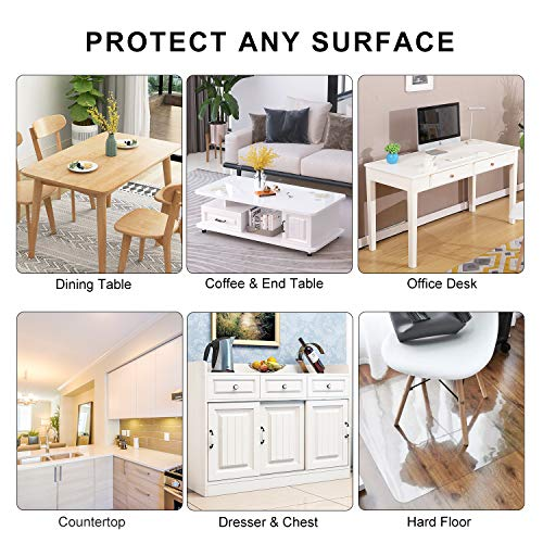 Lovepads 1 5mm Thick 40 X 68 Inches Clear Table Cover Protector Table Protector For Dining Room Table Clear Plastic Tablecloth Protector Table Pad For Kitchen Wood Grain Amazon Price Tracker Pricepulse