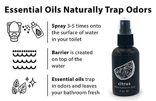 Hemlock Park Organic Bathroom & Toilet Spray | Pure Essential Oils Naturally Stop Odors (Cedar, 8 oz. Spray)