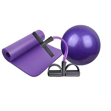 Amazon.com : Qys Yoga Mat Yoga Ball and 4-Strand Puller ...