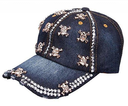 Bigood Cowboy Pre-curved Visor Sun Hat Trucker Snapback Baseball Cap Gold -