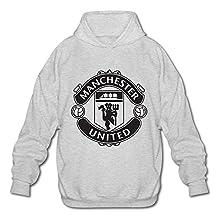 HUBA Men's Hoodies Manchester United 2 Ash Size XL