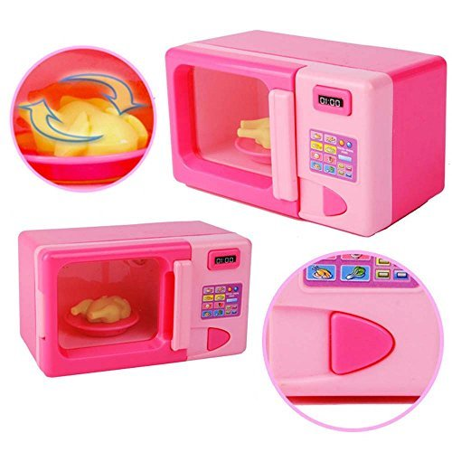 LegacyStore Plastic Pink Microwave Oven Kids Children Girls Home Role Play Pretend Game Toy by LegacyStore