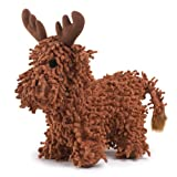 Zanies Moppy Plush Curly Crew Dog Toy, Moose, 10-1/2-Inch, My Pet Supplies