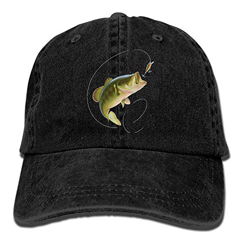Largemouth Bass Snapback Cap Flat Bill Hats Adjustable Blank Caps for Men Women