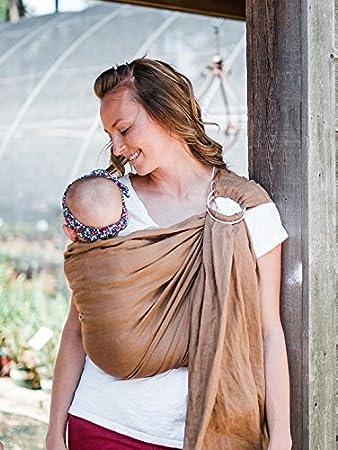cc845798045 Amazon.com   Bibetts Pure Linen Ring Sling Baby Carrier - CPSIA Compliant -  Infant