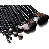 Glow noir professionnel 12 lot pinceaux maquillage trousse en cas exquis