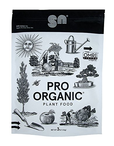 Shin Nong PRO ORGANIC All Purpose Fertilizer, 100% Organic, 3lb, OMRI Listed