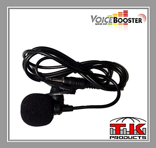 VoiceBooster Tie-Clip Microphone for VoiceBooster (Aker) Voice Amplifiers by TK Products, LLC