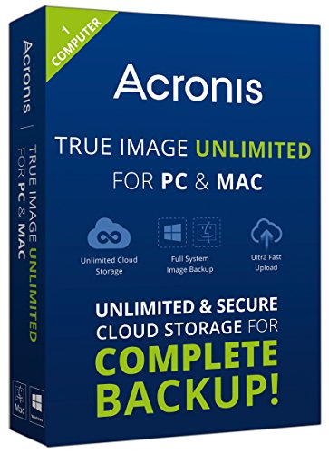 Acronis True Image Unlimited for PC and Mac - 1 Computer by Acronis