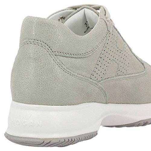 Hogan Damen HXW00N00E30I6FB001 Weiss Leder Sneakers
