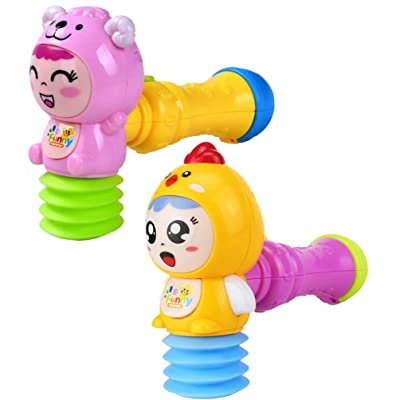NUOBESTY 2pcs Baby Hammer Toy Electronic Musical Toy Educational Musical Toys Light Up Toys for Kifds Early Learning Music Rhythm Toys Without Battery Random Pattern: Toys & Games