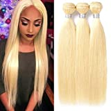 Best Hair Weave Blonde 3 Bundles - 613 Blonde Straight Human Hair 3 Bundles Mixed Review