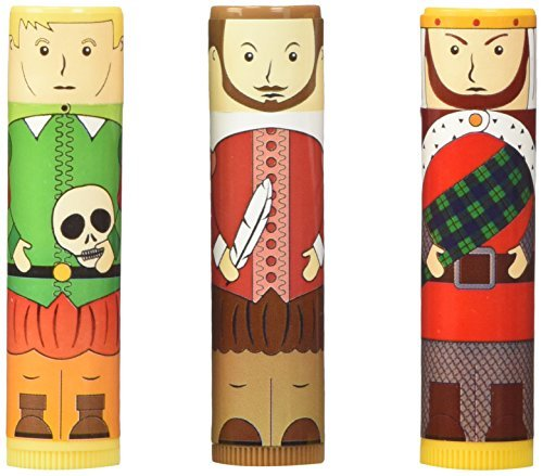 Accoutrements Shakespearean Lip Balm Set by Accoutrements