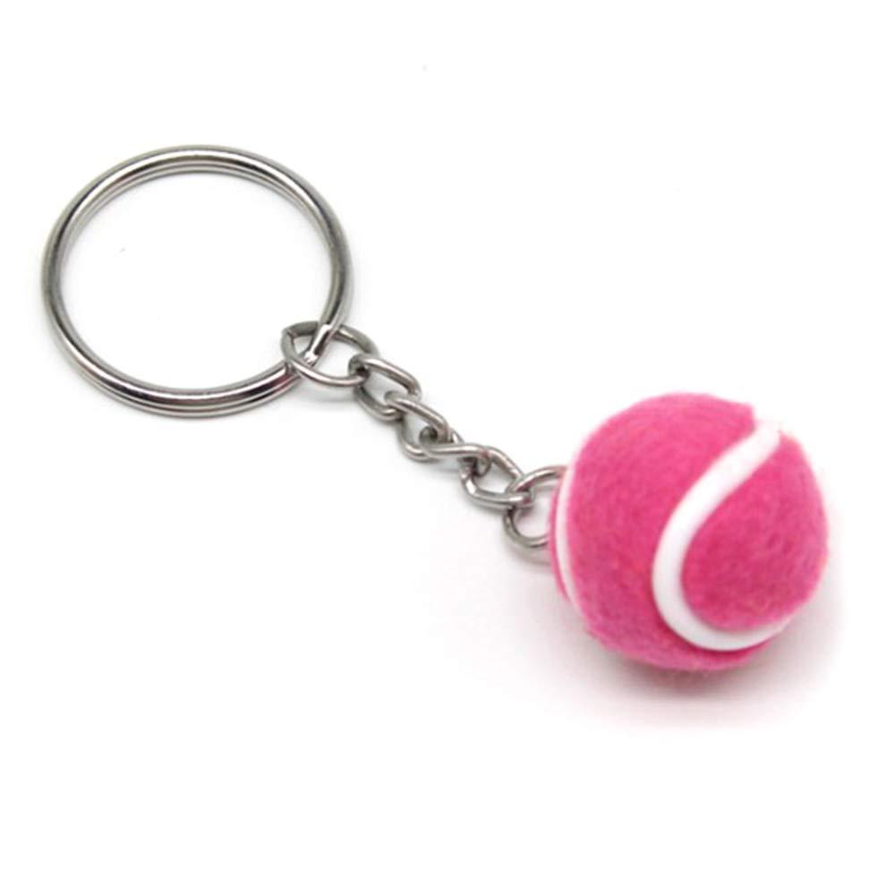 Walmeck- Llavero con Bola de Tenis (tamaño pequeño), Rosa, 3.8cm ...