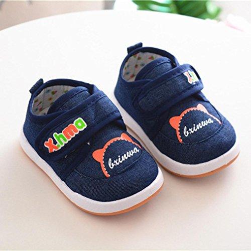 Clode® Kinder Infant Kid Canvas Anti Rutsch Brief Drucken Weiche Sohle Schuhe Sneaker Blau
