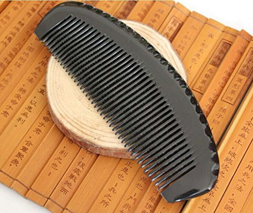 Acupress-No-Static-Handmade-Premium-Quality-Natural-Buffalo-Horn-Combs-Pocket-Combs-Moon-Shape