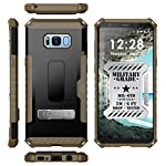 Galaxy S8+ Case, Autumn Camouflage Tree CAMO Real Woods TRI-Shield Rugged CASE Cover with Magnetic Kickstand + Lanyard Strap + Credit Card Wallet Slot for Samsung Galaxy S8 Plus Phone (SM-G955), S8+ 14 COMPATIBILITY: