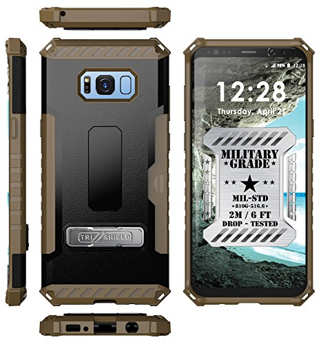 Galaxy S8+ Case, Autumn Camouflage Tree CAMO Real Woods TRI-Shield Rugged CASE Cover with Magnetic Kickstand + Lanyard Strap + Credit Card Wallet Slot for Samsung Galaxy S8 Plus Phone (SM-G955), S8+ 7 COMPATIBILITY:
