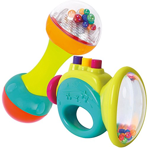 Juego de Trompeta y Sonajero para Bebes - Perfectos Instrumentos Musicales para tu Bebe - Juguetes Educativos e Interactivos para el Aprendizaje de Nios y Nias - Perfecto Regalo de Cumpleaos