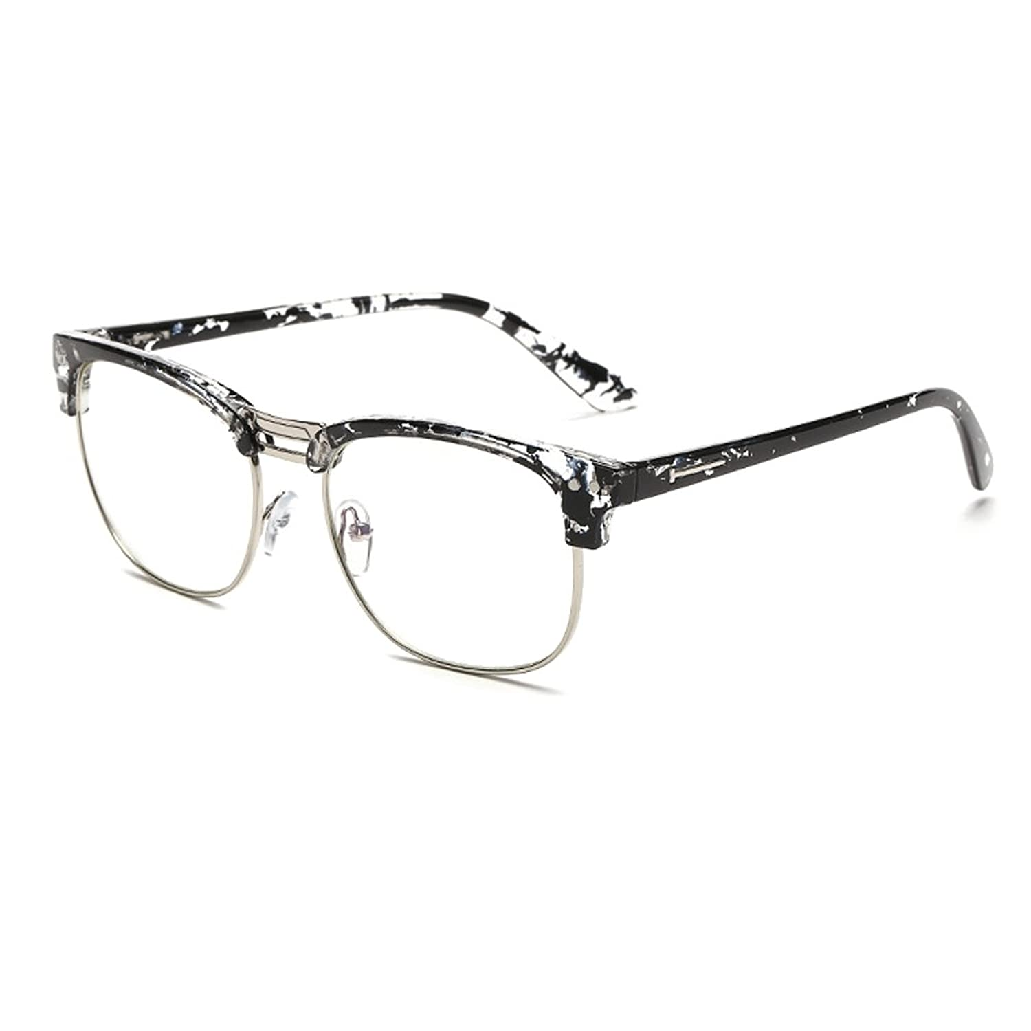 Zhhlinyuan 3pcs Fashion Cool Square Frame Unisex Men and Femmes Reading Glasses +1.00-+4.00 ZnW3n5
