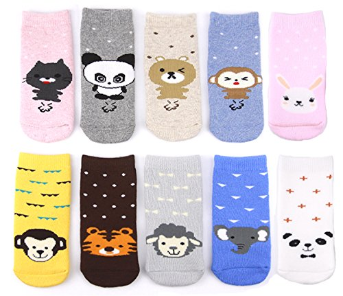 luxehome-yr1605-cozy-cotton-animal-baby-toddler-socks-10-pairs-m-1-3-years