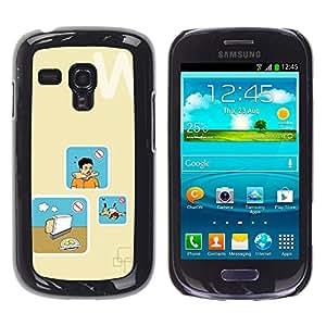 For Samsung Galaxy S3 III MINI (NOT REGULAR!) / I8190 / I8190N Case , Bread Cooking Danger Art - Diseño Patrón Teléfono Caso Cubierta Case Bumper Duro Protección Case Cover Funda