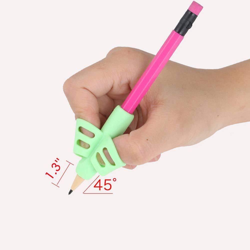 3 soportes para lápices, para escritura a mano, ergonómico, ayuda para escribir a mano, para niños, adultos, necesidades especiales, rectos o zurdos, ...