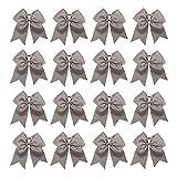 "16PCS 8"" Large Cheer Hair Bows Ponytail Holder Elastic Band Handmade for Cheerleading Teen Girls College Sports"