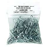 Perfection Chain Products 68620 3/0 Tie Out Chain, Bright Galvanized 20 FT