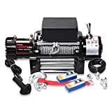 X-BULL 12V Steel Cable Electric Winch 12000 lb Load Capacity